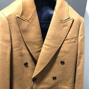 Spier and Mackay Camel Wool/Cashmere Topcoat